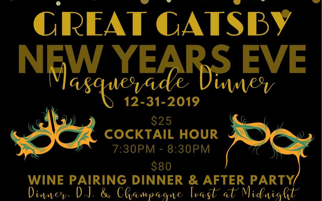 Celebrate a Roaring Good Time at our Gatsby-Themed New Year's Eve
